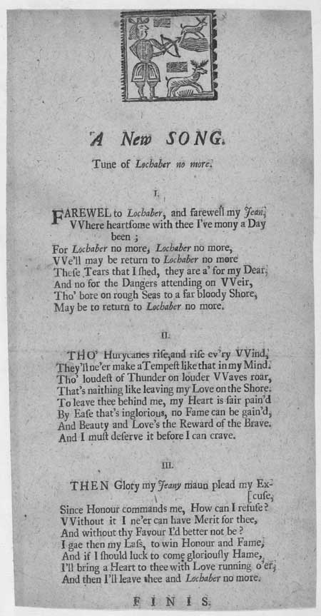 Broadside ballad entitled 'A New Song'