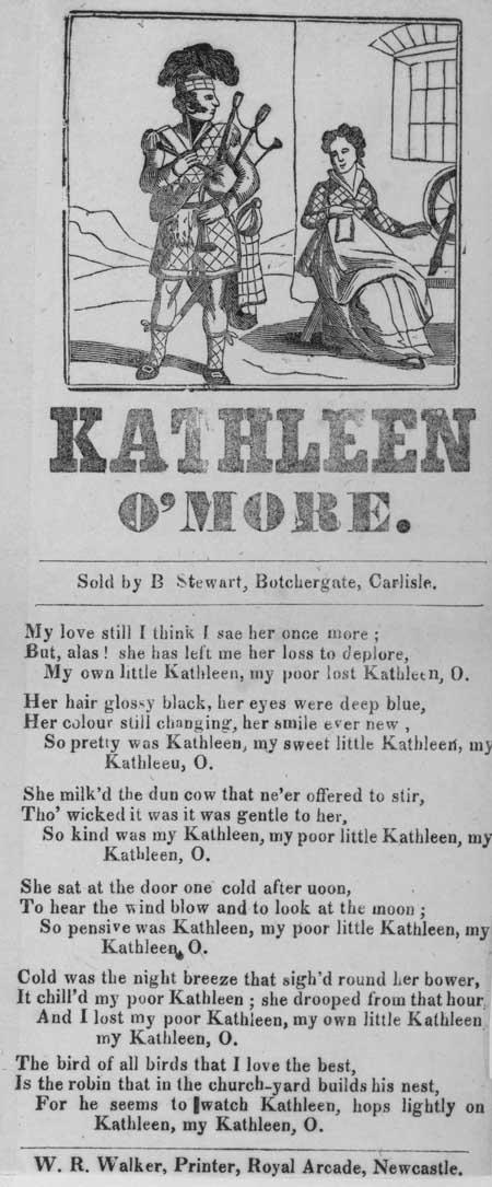 Broadside ballad entitled 'Kathleen O'More'