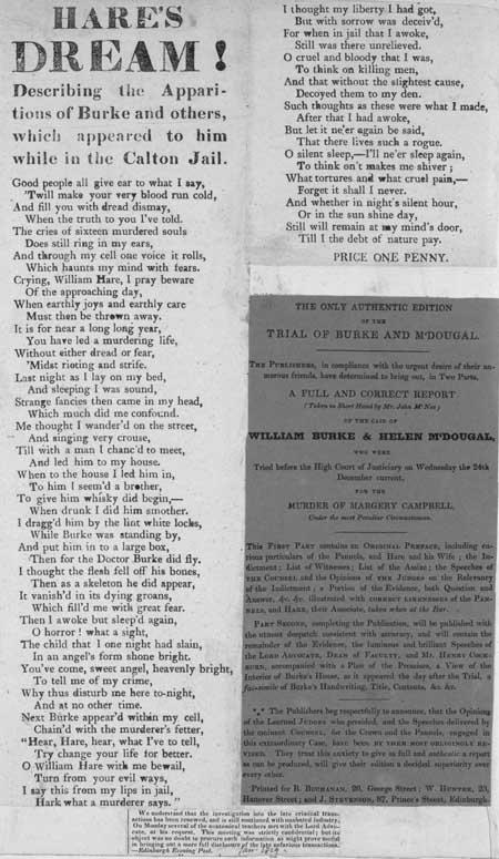 Broadside ballad entitled 'Hare's Dream!'