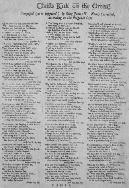 Broadside ballad entitled 'Christ's Kirk on the Green'