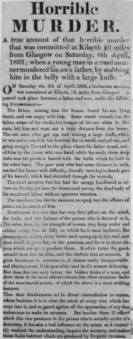 Broadside entitled 'Horrible Murder'