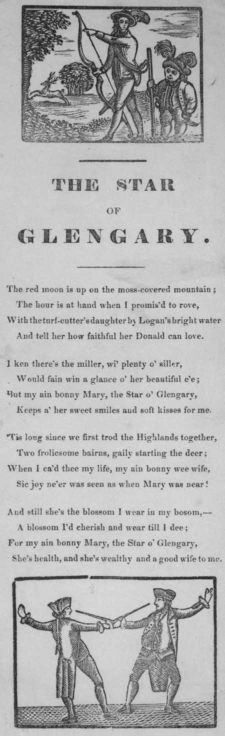 Broadside ballad entitled 'The Star of Glengary'