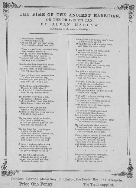 Broadside ballad entitled 'The Rime of the Ancient Harridan'