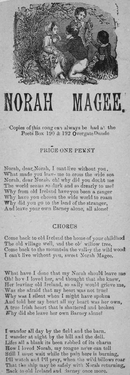 Broadside ballad entitled 'Norah Magee'
