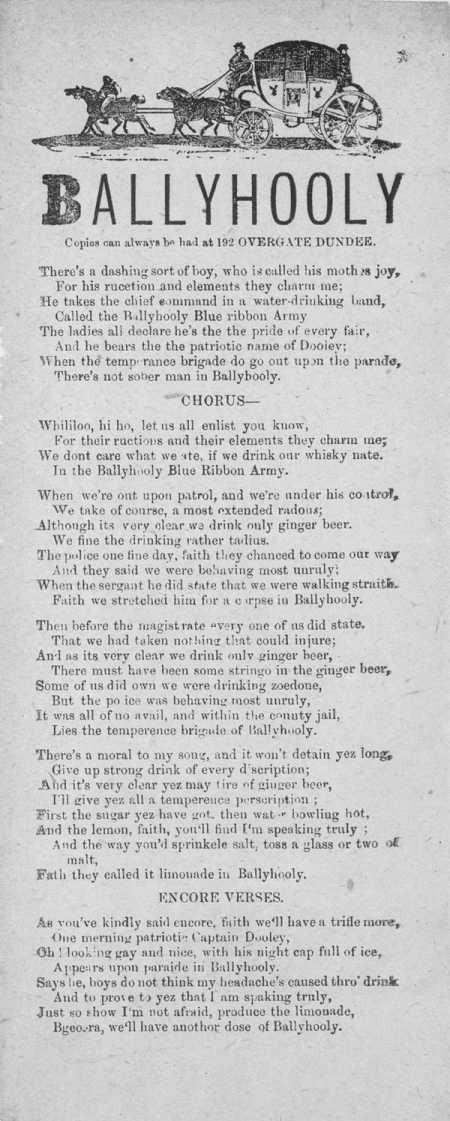 Broadside ballad entitled 'Ballyhooly'