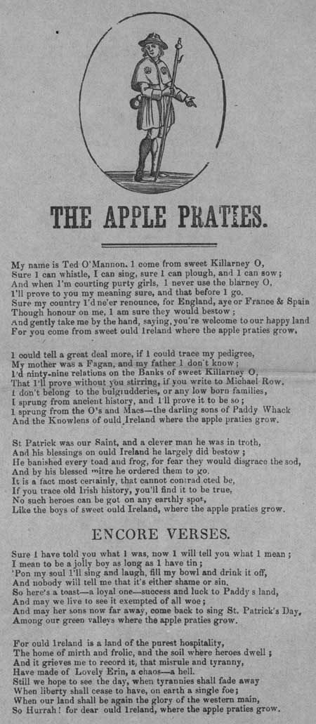 Broadside ballad entitled 'The Apple Praties'
