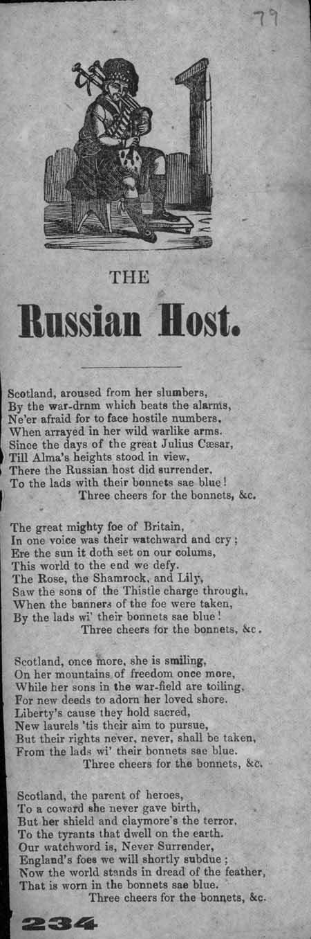 Broadside ballad entitled 'The Russian Host'
