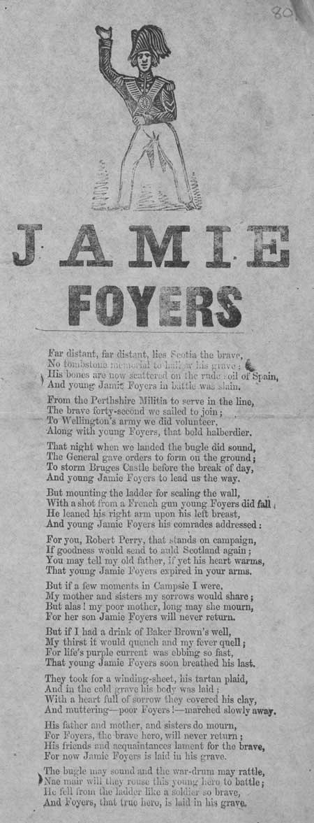Broadside ballad entitled 'Jamie Foyers'