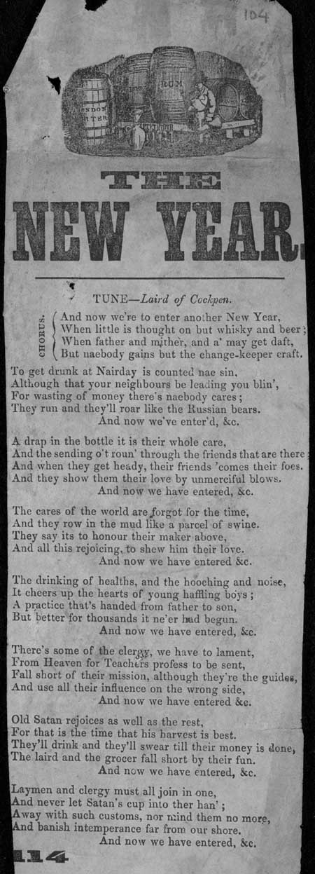 Broadside ballad entitled 'The New Year'