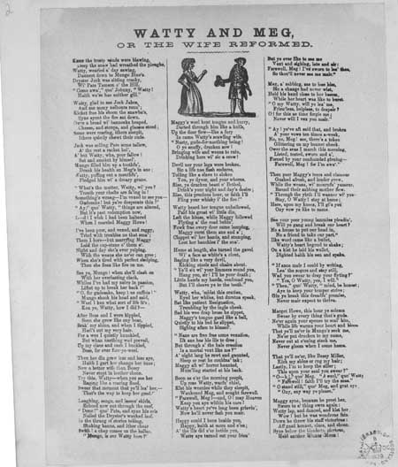 Broadside ballad entitled 'Watty and Meg, or the Wife Reformed'