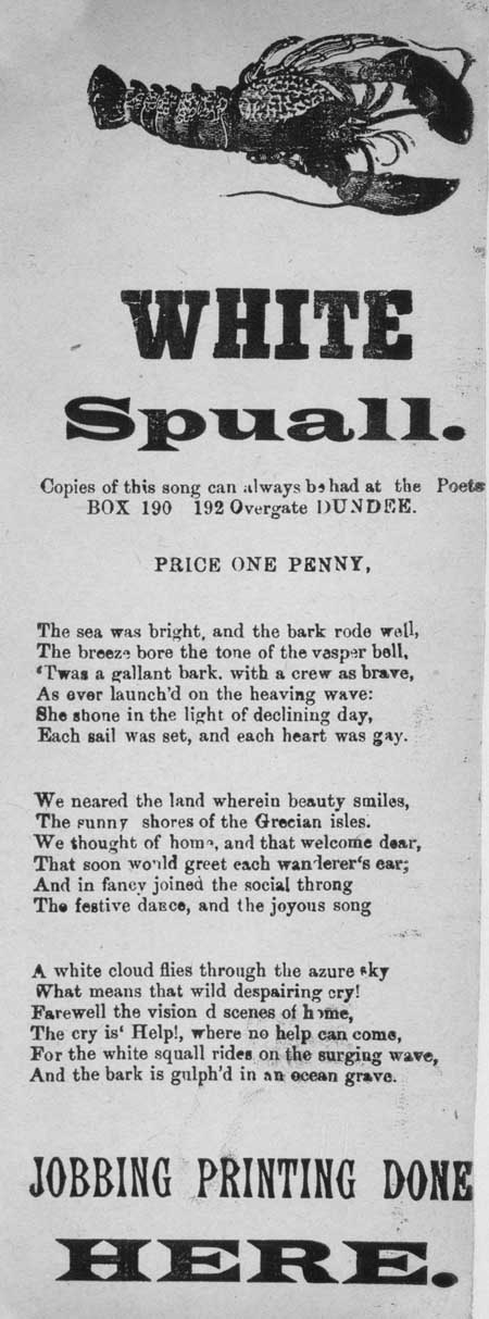 Broadside ballad entitled 'White Spuall'