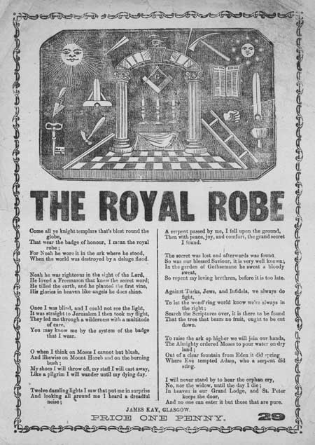 Broadside ballad entitled 'The Royal Robe'