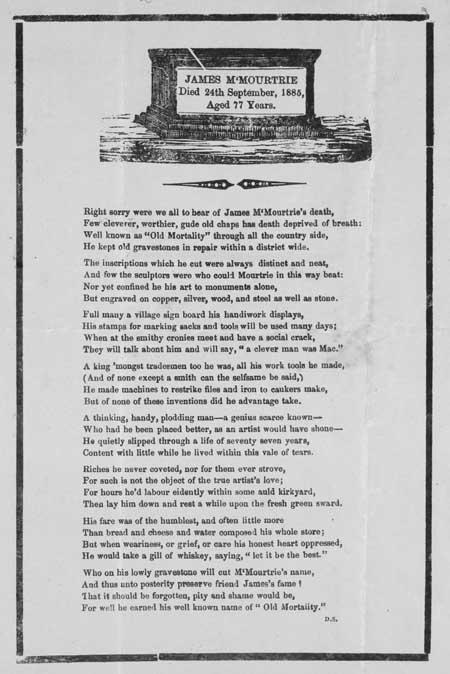 Broadside ballad entitled 'James M'Mourtrie'