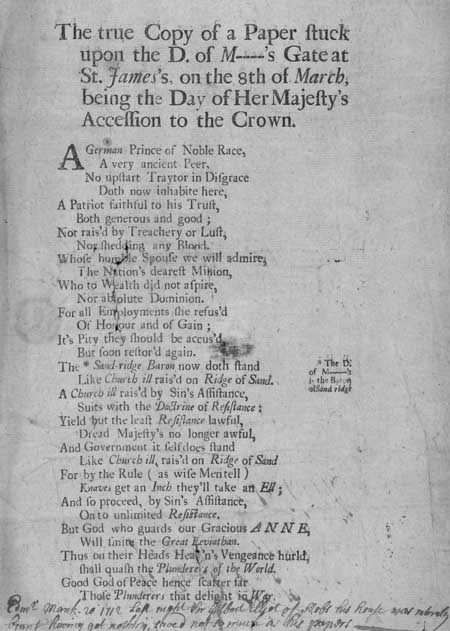 Broadside regarding 'Her Majesty's Accession to the Crown'