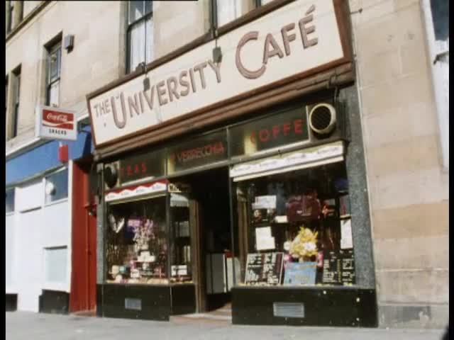 Full record for 'GLASGOW BY THE WAY: Cricket, Michael Donnelly in Church,  University Cafe and the Rendezvous Cafe' (4842) - Moving Image Archive  catalogue