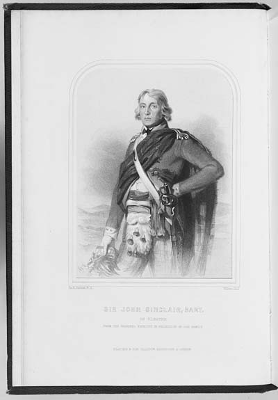 (1) Frontispiece - Sir John Sinclair, Bart
