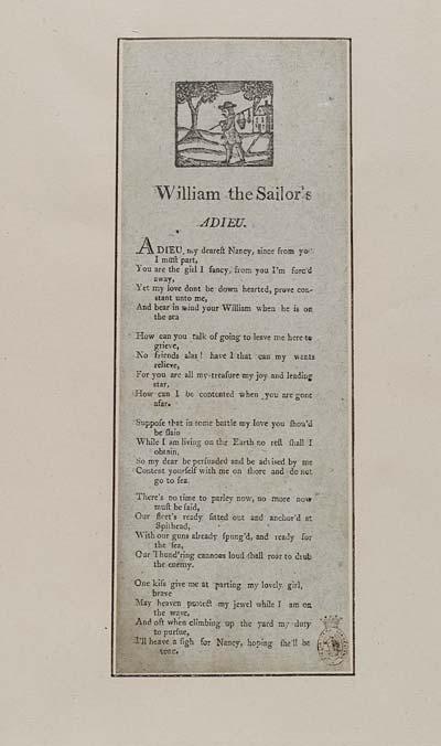 (1) William the sailor's adieu