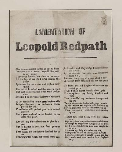 (2) Lamentation of Leopold Redpath