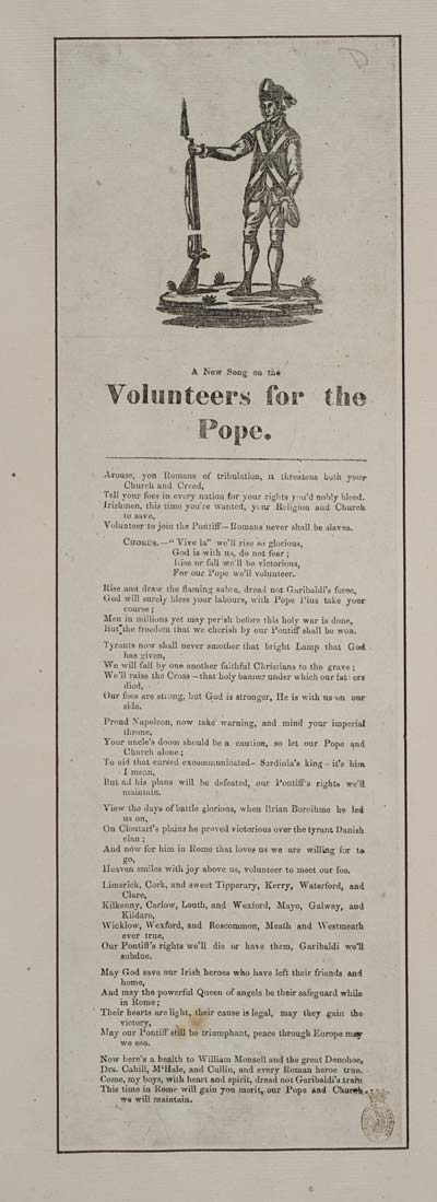 (3) New song on the volunteers for the Pope