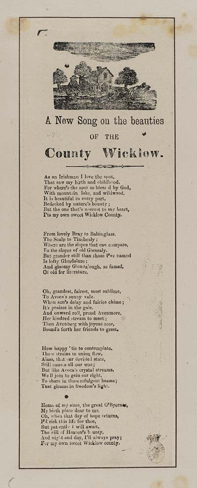 (7) New song on the beauties of the County Wicklow