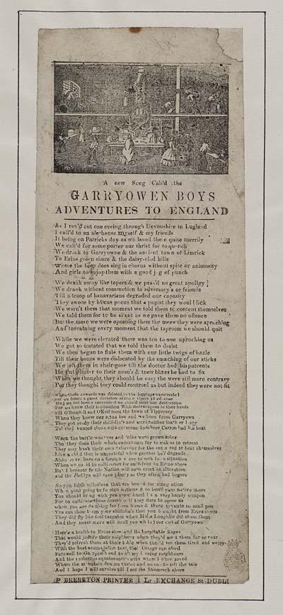 (7) New song call'd the Garryowen boys adventures to England
