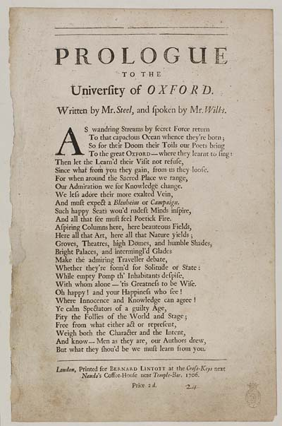 (7) Prologue to the University of Oxford