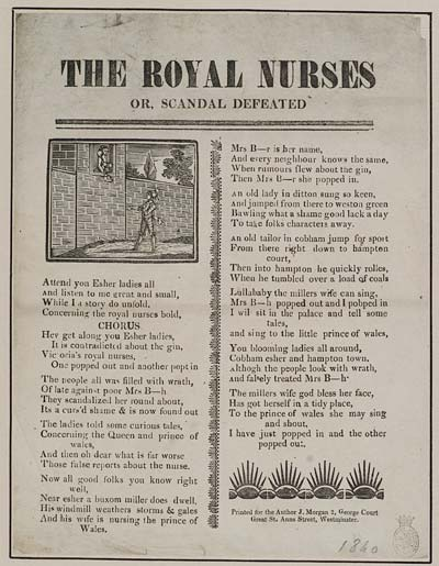(17) Royal nurses or, scandal defeated