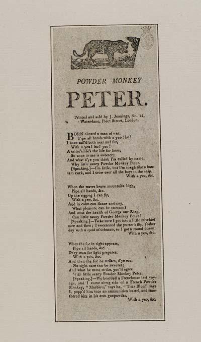 (19) Powder monkey Peter