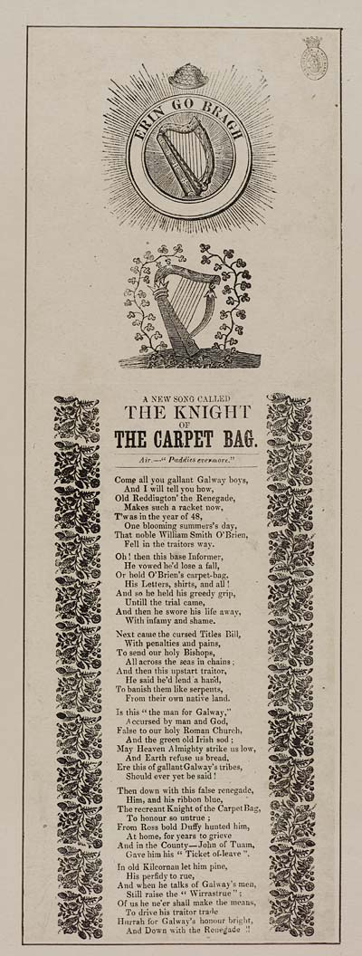 (26) New song called the knight of the carpet bag