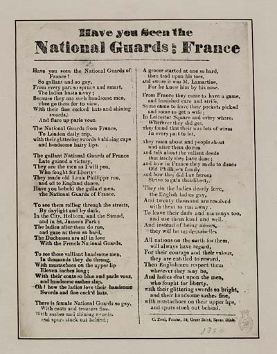 (45) Have you seen the National Guards of France