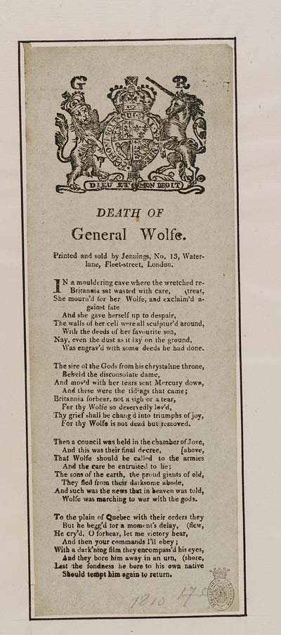 (33) Death of General Wolfe