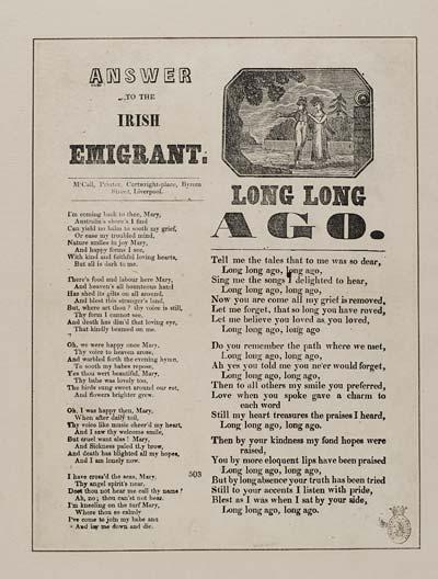 (31) Answer to the Irish emigrant