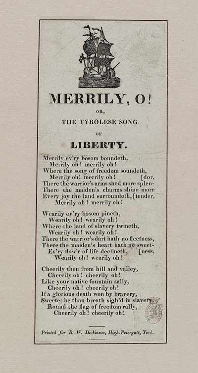 (33) Merrily, o! or, The Tyrolese song of liberty