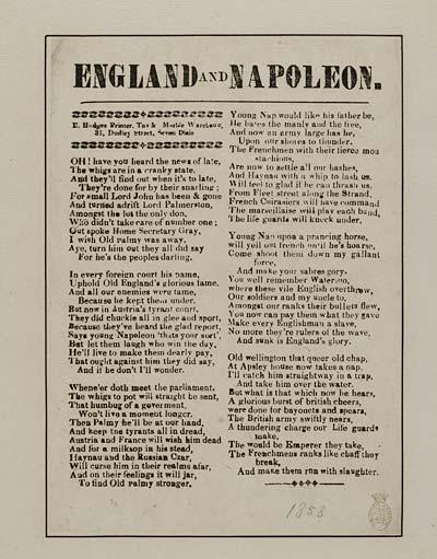 (38) England and Napoleon