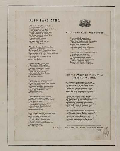 (40) Auld lang syne