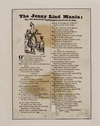 (23) Jenny Lind mania; or, The Swedish nightingale arrived at last