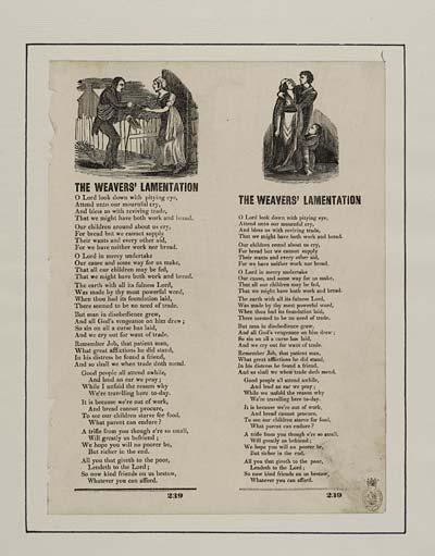 (48) Weavers' lamentation