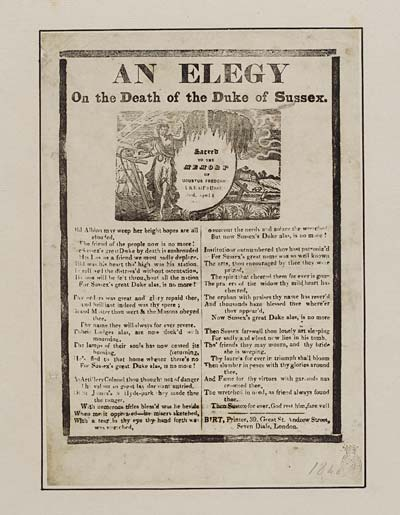 (49) Elegy on the death of the Duke of Sussex
