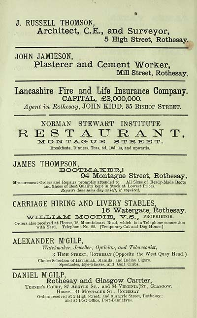 24) - Scottish Post Office Directories > Counties > Bute > 1889