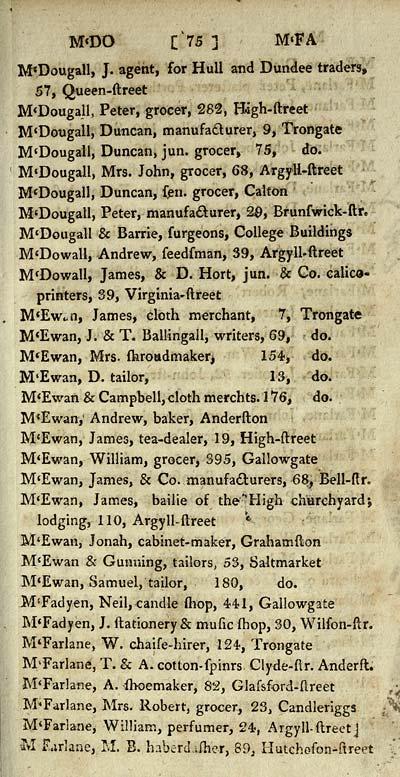 79) - Scottish Post Office Directories > Towns > Glasgow > 1799-1828