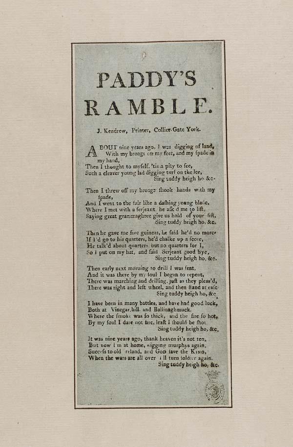(1) Paddy's ramble