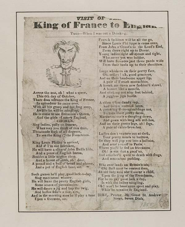 (1) Visit of the King of France to England