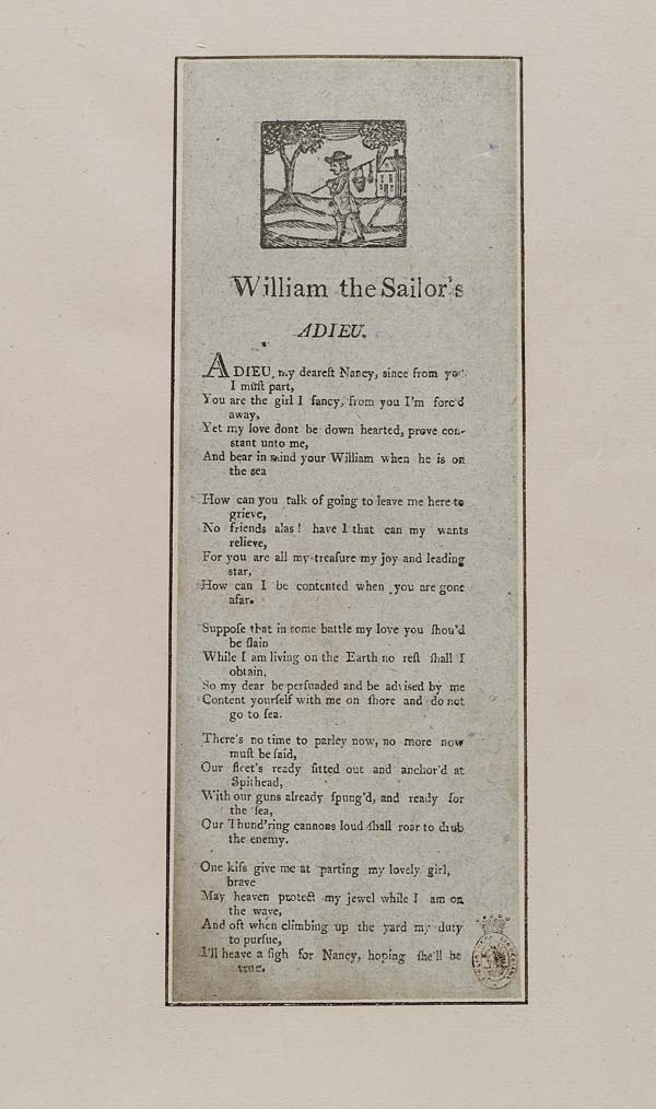 (1) William the sailor's adieu