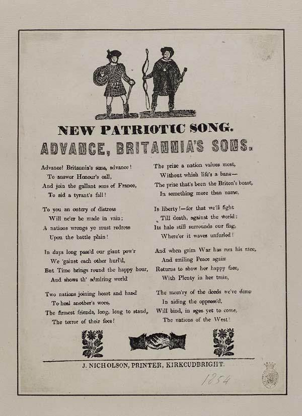 (1) Advance, Britannia's sons