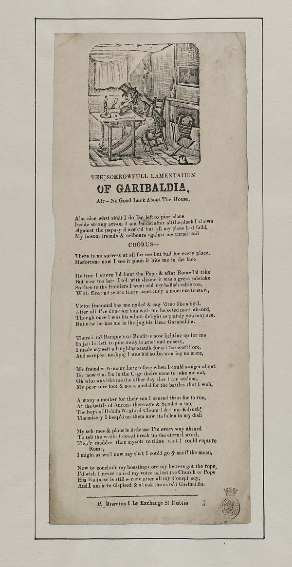 (1) Sorrowfull lamentation of Garibaldia