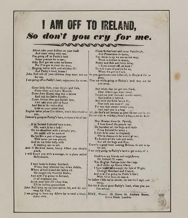 (2) I am off to Ireland