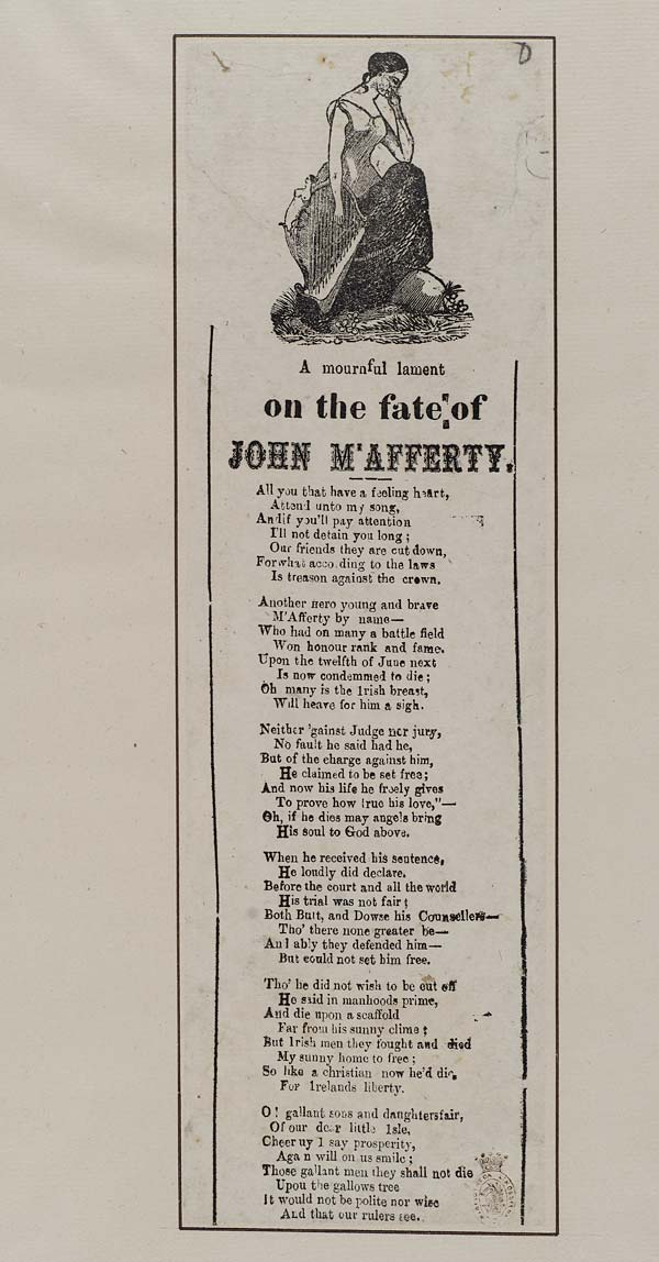 (2) Mournful lament on the fate of John M'Afferty