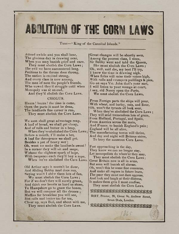 (14) Abolition of the Corn Laws