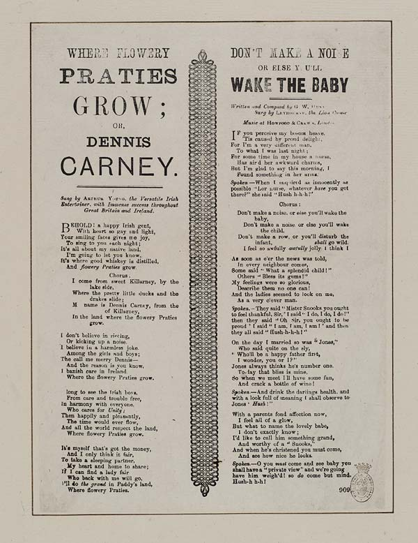 (20) Where flowery praties grow; or, Dennis Carney