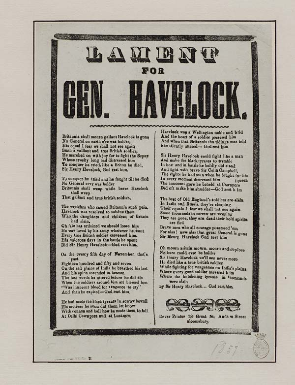 (15) Lament for Gen Havelock